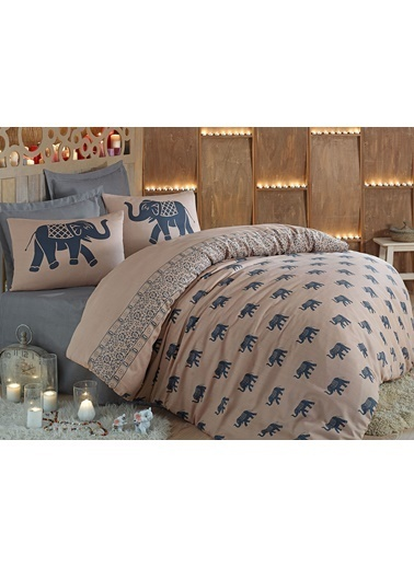 Eponj Home Mature Nevresim Seti Çift Kişilik Fil  Mavi